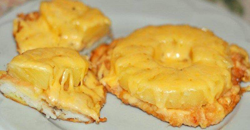Индейка под ананасами в духовке рецепт