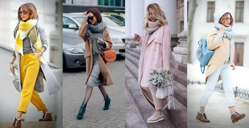 Как правильно носить шарф хомут с пальто